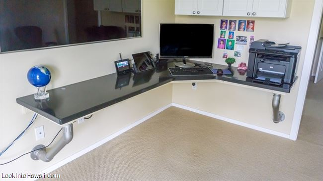 Build A Custom Floating Desk - Home